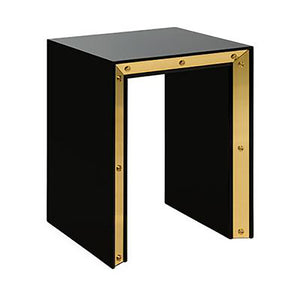 SMALL EDGE LACQUER SIDE TABLE - Flair Home Collection