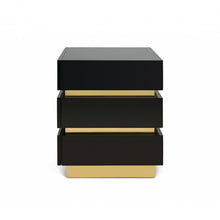 Load image into Gallery viewer, FLAIR HOME COLLECTION BANDED NIGHTSTAND IN BLACK - Flair Home Collection