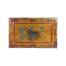 Load image into Gallery viewer, MAISON BAGUES BRONZE FAUX BAMBOO COFFEE TABLE WITH ANTIQUE CHINESE PANEL TOP - Flair Home Collection