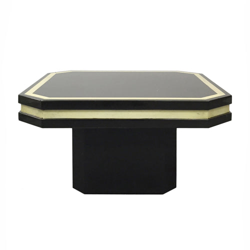 DARK BROWN LACQUERED SIDE TABLE - Flair Home Collection