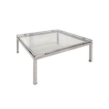 Load image into Gallery viewer, GUY LEFEVRE LARGE SQUARE BRUSHED NICKEL COFFEE TABLE - Flair Home Collection