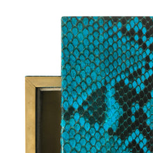 Load image into Gallery viewer, FLAIR HOME COLLECTION LARGE TURQUOISE PYTHON BOX - Flair Home Collection