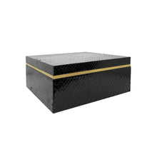Load image into Gallery viewer, FLAIR HOME COLLECTION SQUARE BLACK PYTHON BOX - Flair Home Collection
