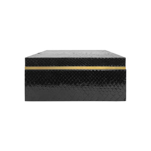 SQUARE BLACK PYTHON BOX - Flair Home Collection
