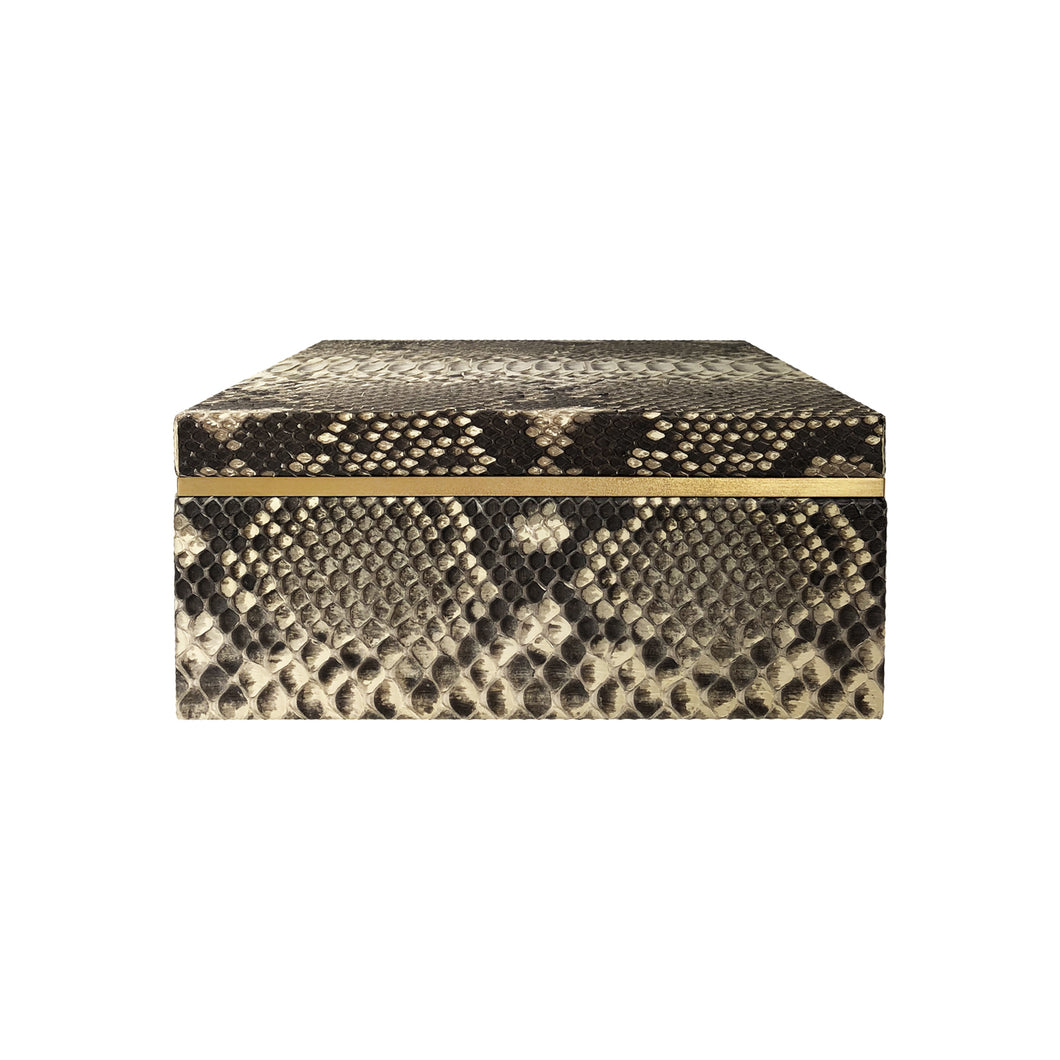 SQUARE NATURAL PYTHON BOX - Flair Home Collection