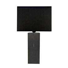 Load image into Gallery viewer, CARBON SHAGREEN TABLE LAMP - Flair Home Collection