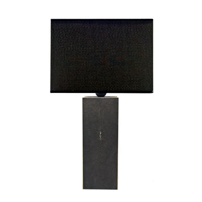 CARBON SHAGREEN TABLE LAMP - Flair Home Collection