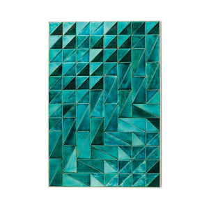 JADE CERAMIC TILE WALL SCULPTURE - Flair Home Collection