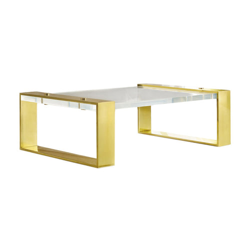LUCITE SLAB COFFEE TABLE - Flair Home Collection