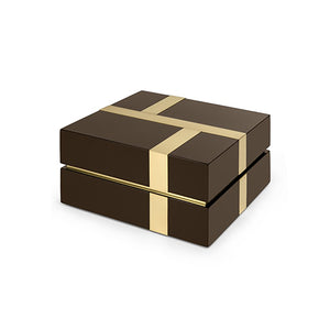 BROWN LACQUER RIGHE BOX - Flair Home Collection