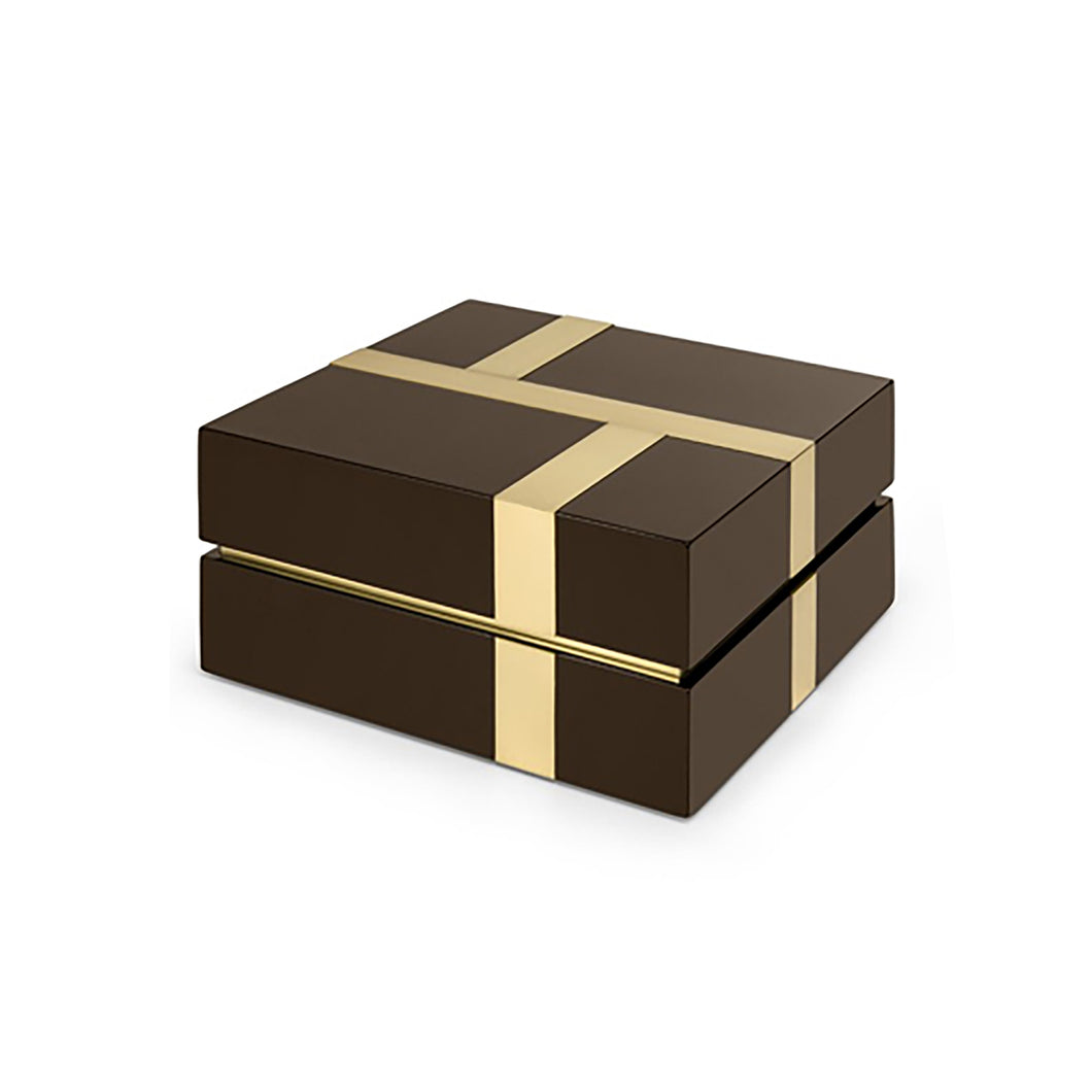 BROWN LACQUER RIGHE BOX