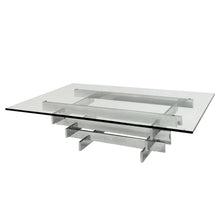 "Load image into Gallery viewer, DAVID HICKS STACKED CHROME ""TAVOLO SCULTURA"" COFFEE TABLE - Flair Home Collection"