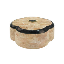 Load image into Gallery viewer, MAITLAND SMITH SCALLOPED STONE BOX WITH HINGED LID - Flair Home Collection