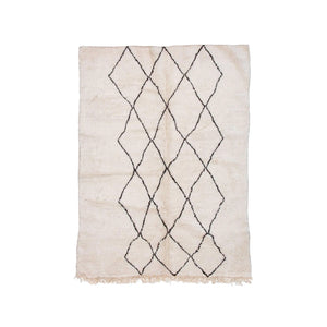 BENI OURAIN MOROCCAN RUG WITH THREE COLUMN DIAMOND PATTERN - Flair Home Collection