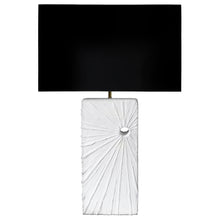 "Load image into Gallery viewer, ""ECLIPSE"" PLASTER TABLE LAMP - Flair Home Collection"