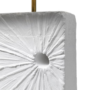 """ECLIPSE"" PLASTER TABLE LAMP - Flair Home Collection"