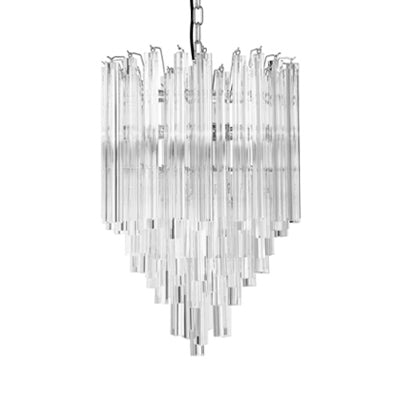 CLEAR GLASS PRISM CHANDELIER - Flair Home Collection
