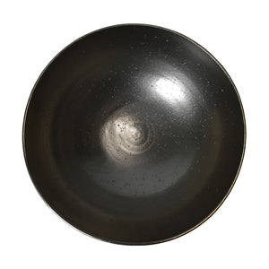 BLACK MOONSCAPE GLAZE LARGE CERAMIC BOWL - Flair Home Collection