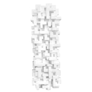 """TOTEM 4"" WALL SCULPTURE IN WHITE FINISH - Flair Home Collection"