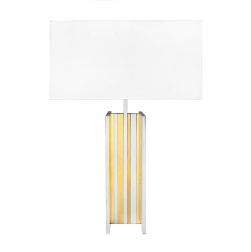 BRASS AND CHROME TABLE LAMP IN THE MANNER OF SCOLARI - Flair Home Collection