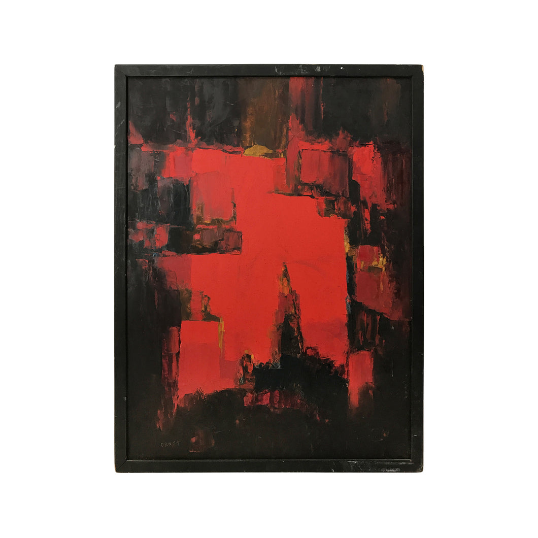 ABSTRACT PAINTING IN RED AND BLACK - Flair Home Collection