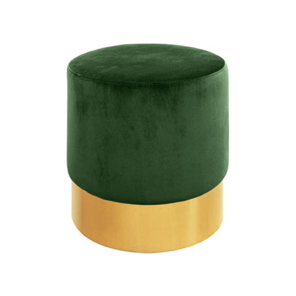 ELLA STOOL IN GREEN VELVET AND BRASS - Flair Home Collection
