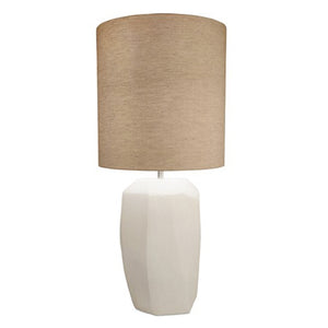 HANDBLOWN TALL CUBISTIC OPAL GLASS LAMP - Flair Home Collection