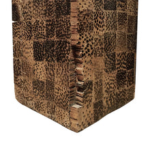 Load image into Gallery viewer, RECTANGULAR LACQUERED FAUX SNAKE SKIN CHECKERBOARD SIDE TABLE - Flair Home Collection
