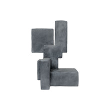 "Load image into Gallery viewer, ""LUUK"" TABLE TOP SCULPTURE IN CHARCOAL FINISH - Flair Home Collection"
