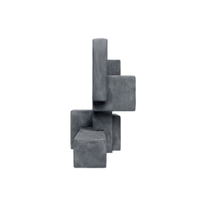 """LUUK"" TABLE TOP SCULPTURE IN CHARCOAL FINISH - Flair Home Collection"