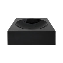 Load image into Gallery viewer, LARGE BLACK GLASS SQUARE CONVEX BOWL - Flair Home Collection