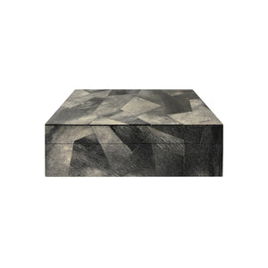 LARGE RECTANGULAR BLACK AND GREY HORN BOX - Flair Home Collection