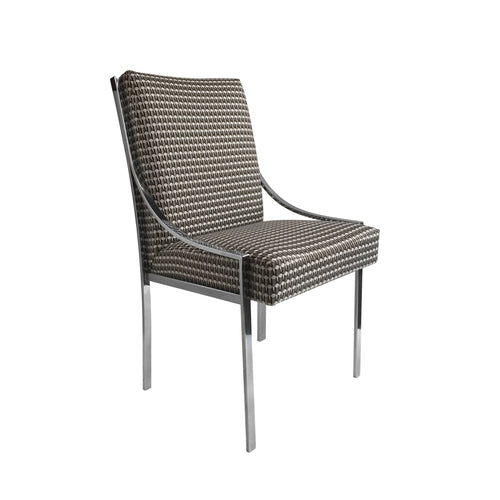 VINTAGE CHROME CURVED ARM DINING CHAIR BY DILLINGHAM MANUFACTURING COMPANY - Flair Home Collection