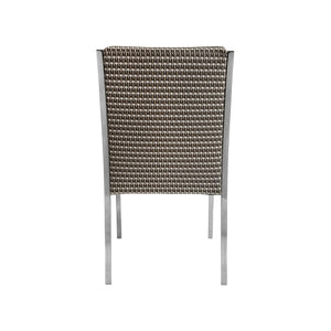 CHROME CURVED ARM DINING CHAIR - Flair Home Collection