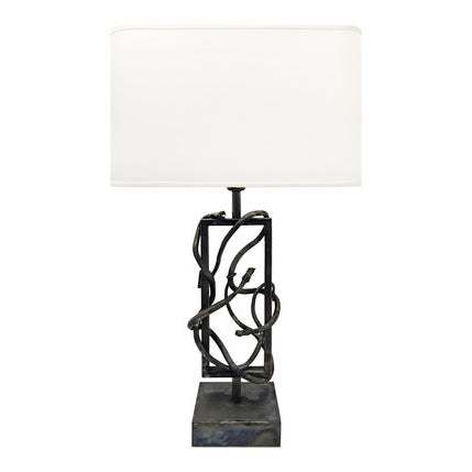 ITALIAN STEEL SNAKE TABLE LAMP - Flair Home Collection