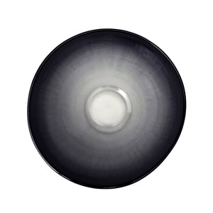 LARGE CURVED CERAMIC BOWL WITH OMBRE GLAZE - Flair Home Collection