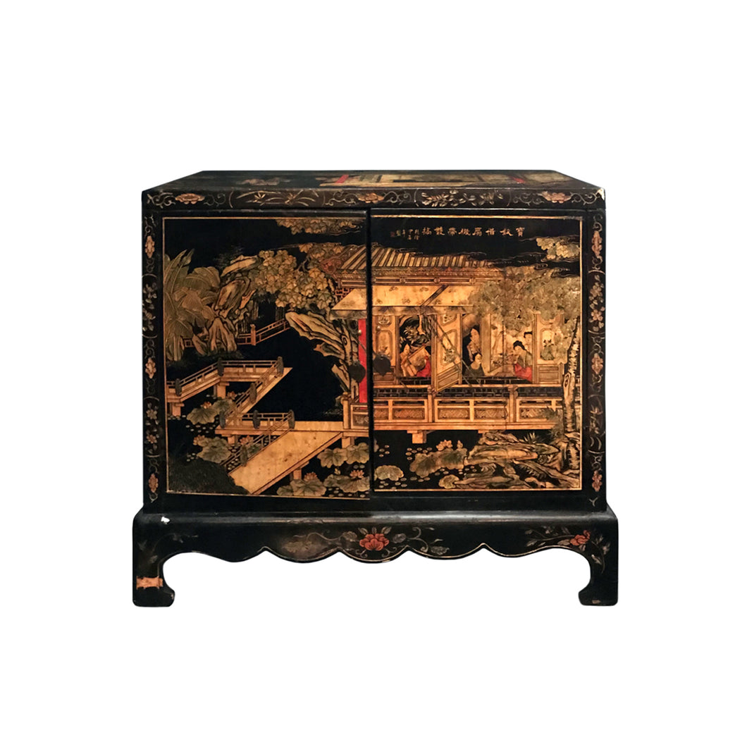 MIDCENTURY CARVED CHINOISERIE CABINET - Flair Home Collection