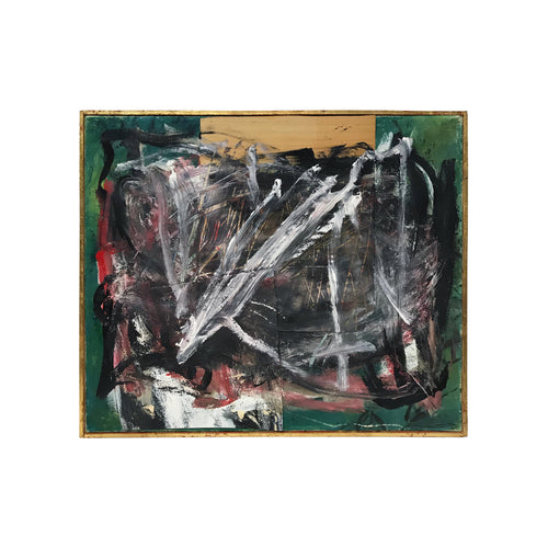 MID-CENTURY ABSTRACT MIXED MEDIA PAINTING - Flair Home Collection