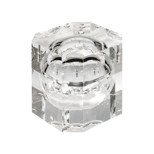 LUCITE BOX WITH SWIVEL TOP - Flair Home Collection