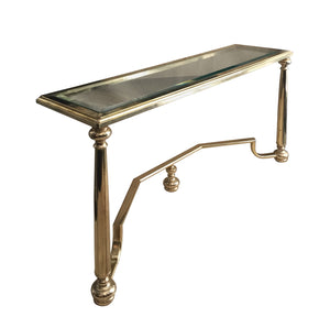 1970's BELGIAN RECTANGULAR BRASS CONSOLE - Flair Home Collection