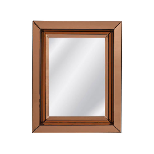 RECTANGULAR ITALIAN MIDCENTURY STYLE BRONZE GLASS FRAME MIRROR - Flair Home Collection