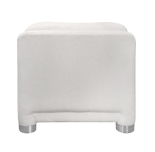 Load image into Gallery viewer, VINTAGE WHITE CURVED ARM CHAIR WITH ROUND CHROME LEGS - Flair Home Collection