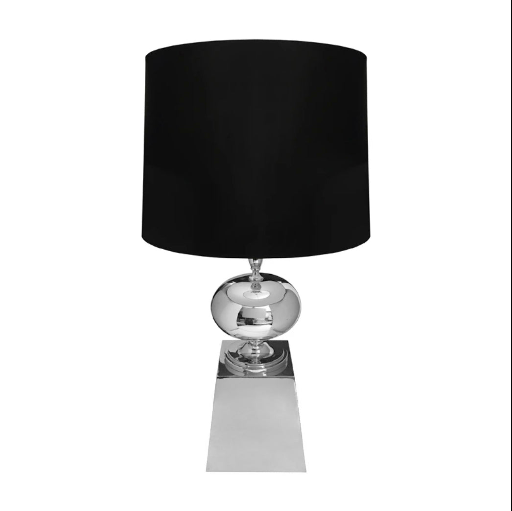 FRENCH NICKEL SPHERE TABLE LAMP - Flair Home Collection