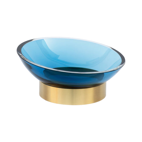MEDIUM GLASS RING BOWL IN BLUE - Flair Home Collection