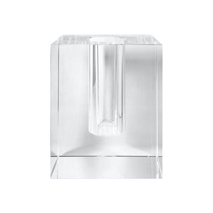 LARGE CRYSTAL BLOCK VASE - Flair Home Collection