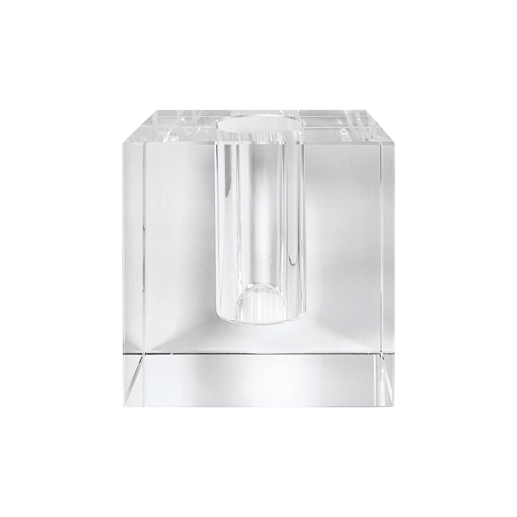 MEDIUM CRYSTAL BLOCK VASE - Flair Home Collection