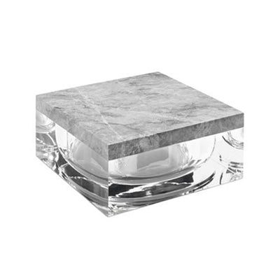 LARGE MARBLE AND LUCITE BOX - Flair Home Collection