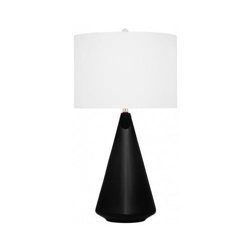 BLACK CERAMIC TEARDROP TABLE LAMP - Flair Home Collection