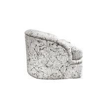 Load image into Gallery viewer, CURVED BACK SLOPED ARM LOVESEAT WITH ORIGINAL SPLATTER UPHOLSTERY - Flair Home Collection