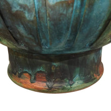 Load image into Gallery viewer, ALVINO BAGNI FOR RAYMOR CERAMIC JAR LAMP IN BLUE GREEN GLAZE - Flair Home Collection